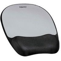 Fellowes 9175801 Black, Silver mouse pad