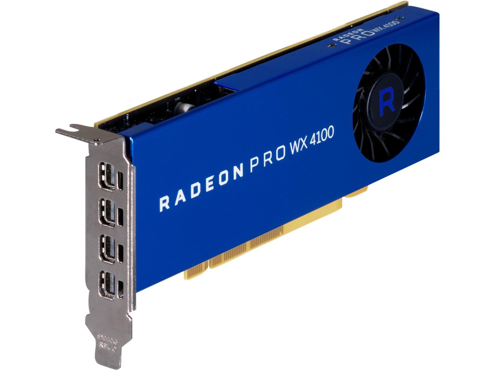 HP AMD Radeon Pro WX 4100 4GB FirePro W4100 GDDR5, 5 in
