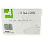 Q-CONNECT Q CONNECT RECORD CARD 6X4 FT WHT P100
