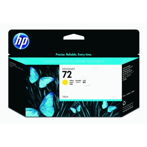 Ink Cartridge - No 72 Yellow With Vivera Ink (130ml)