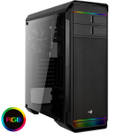 Aerocool Aero 500 Black RGB Mid-Tower Gaming Case With Window