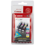 Canon 2934B010 (CLI-521) Ink cartridge multi pack, 446 pages, 9ml, Pack qty 3