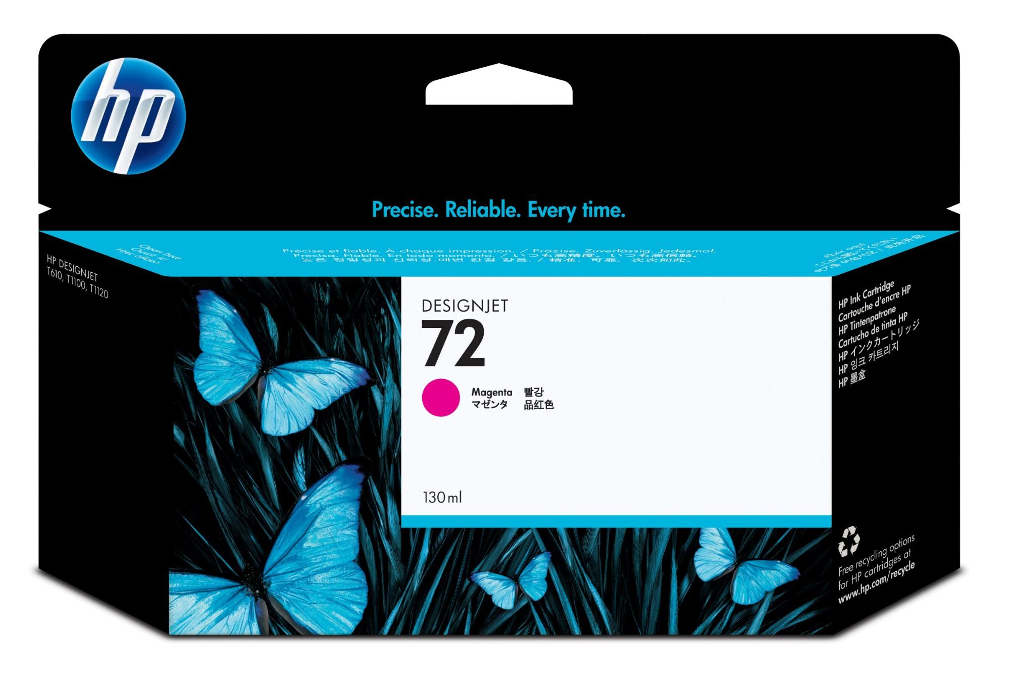 HP 72 Original Magenta 1 pieza(s) Alto rendimiento (XL)