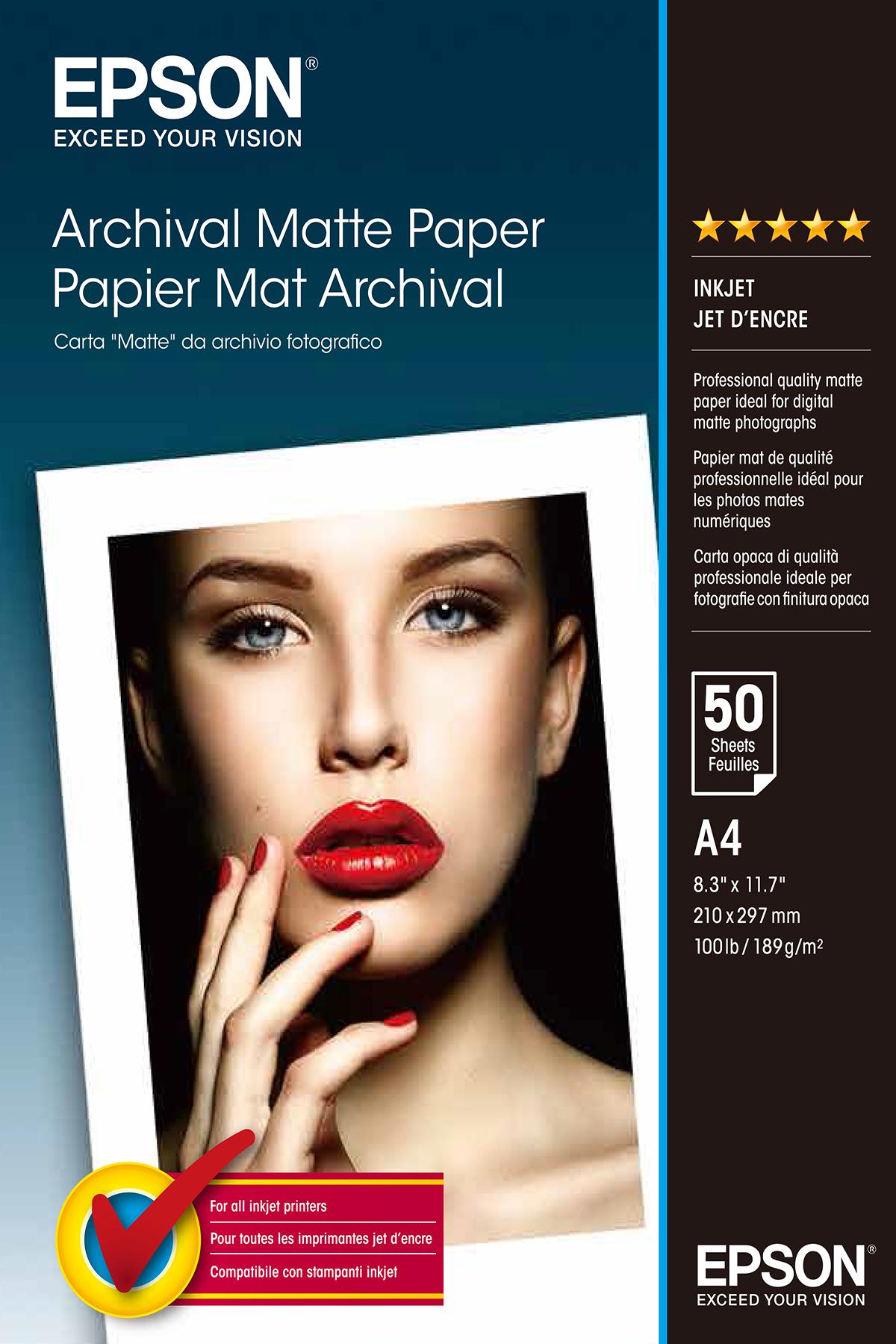 Epson Archival Matte Paper - A4 - 50 Sheets