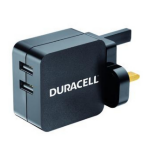Duracell DRACUSB4-UK Indoor Black mobile device charger