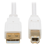 "Tripp Lite U022AB-010-WH USB cable 120.1"" (3.05 m) USB 2.0 USB A USB B White"