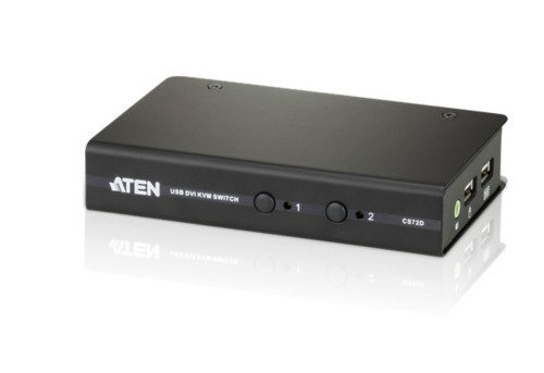 Aten CS72D KVM switch Black