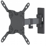"Manhattan Monitor/TV Wall Mount (2 pivots & tiltable), 1 screen, 13-42"", Vesa 75x75 to 200x200mm, Max 20kg, Black, Box"
