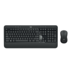 Logitech MK540 Tastatur RF Wireless QWERTY US International Schwarz, Weiß