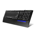 Rapoo NK2000 keyboard USB ĄŽERTY Black