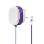 Juice JUI-MAINS-MICRO-2.1A mobile device charger Indoor Purple, White