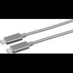 eSTUFF ES84051-1M-GREY USB cable USB C