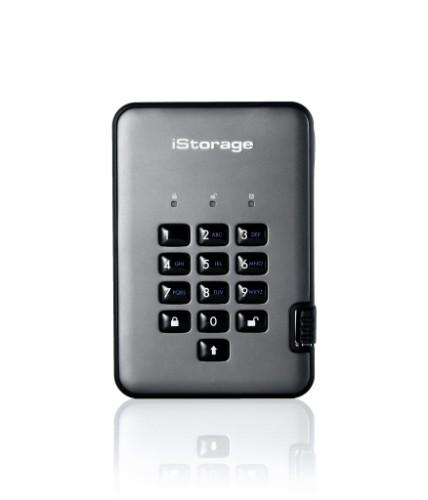 iStorage diskAshur PRO2 256-bit 4TB USB 3.1 secure encrypted solid-state drive IS-DAP2-256-SSD-4000-C-G