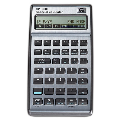 HP 17bII+ calculator Pocket Financial Black