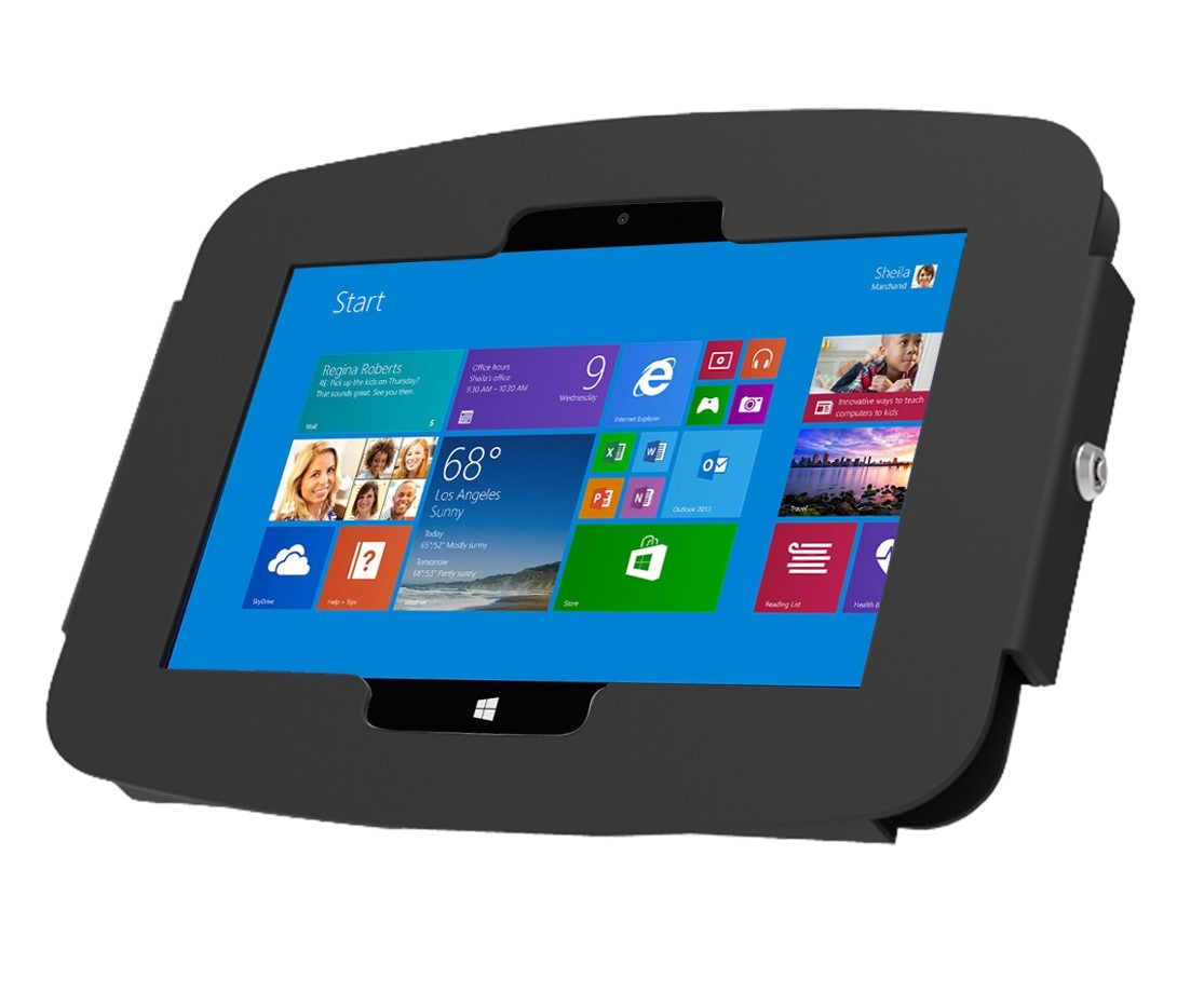 Maclocks Microsoft Surface 3 Mounting Kit - Wall Mount Enclosure, Black