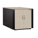 Black Box QC12ULG rack cabinet 12U Freestanding rack Black, Gray