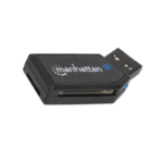 Manhattan USB-A Mini Multi-Card Reader/Writer, 480 Mbps (USB 2.0), 24-in-1, Windows or Mac, Black, Blister