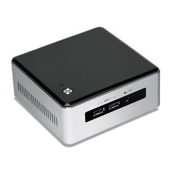 Intel NUC BLKNUC5I3MYHE PC/workstation barebone BGA 1168 2.1 GHz i3-5010U UCFF Black, Silver