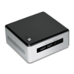 Intel NUC BLKNUC5I3MYHE BGA 1168 2.1GHz i3-5010U UCFF Black, Silver PC/workstation barebone