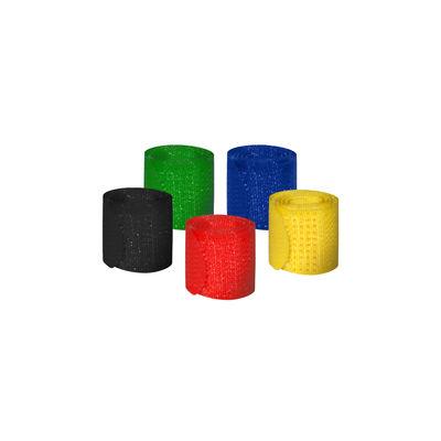 MediaRange Hook and loop cable ties, 16 x 215mm, assorted colors, Pack 5