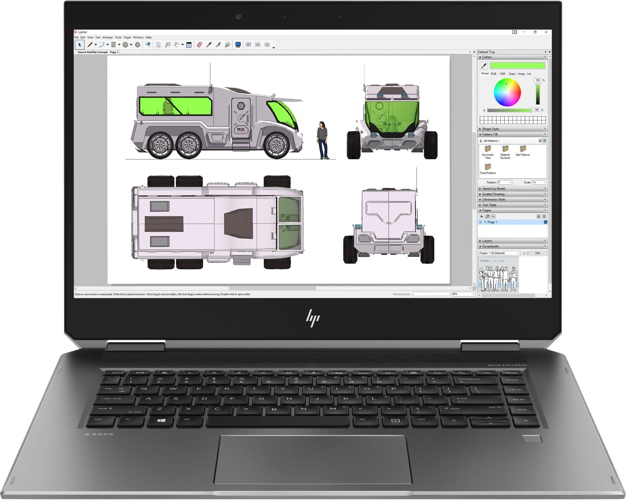 HP ZBook Studio x360 G5 Silver Mobile workstation 39 6 cm (15 6