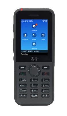 Cisco 8821 Wireless handset Wi-Fi Black IP phone