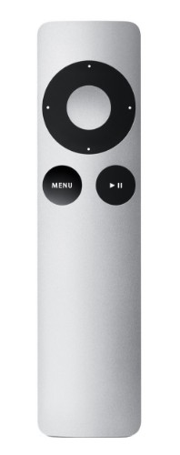 Apple Remote remote control Home cinema system Press buttons