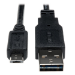 Tripp Lite Universal Reversible USB 2.0 Hi-Speed Cable (Reversible A to 5Pin Micro B M/M), 3-ft.