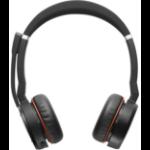 Jabra Evolve 75 headset Binaural Head-band Black, Red
