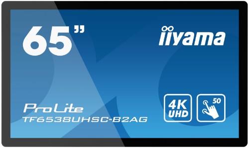 "iiyama ProLite 165.1 cm (65"") IPS 4K Ultra HD Touchscreen Interactive flat panel Black"