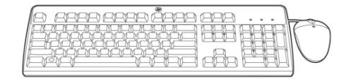 Hewlett Packard Enterprise 638214-B21 keyboard USB Russian Black