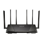 ASUS RT-AC3200 Dual-band (2.4 GHz / 5 GHz) Gigabit Ethernet 3G 4G Black wireless router