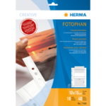 HERMA Fotophan transparent photo pockets 10x15 cm landscape white 10 pcs.