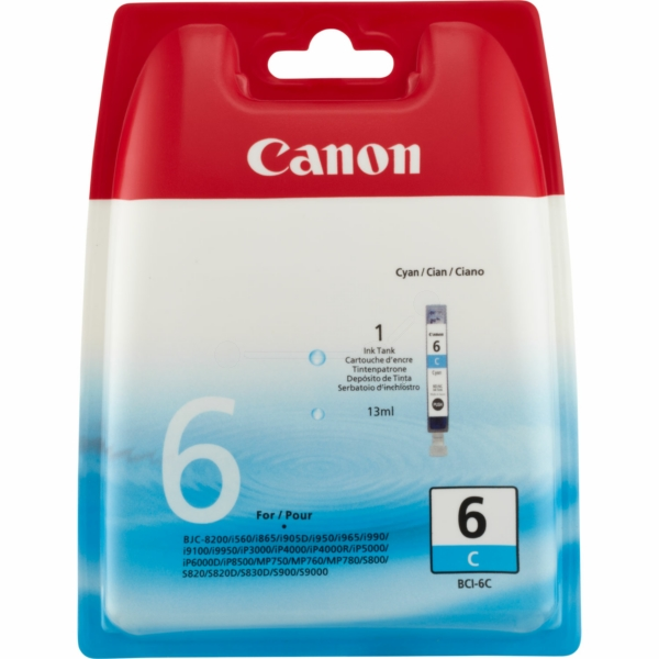 Canon 4706A002 (BCI-6 C) Ink cartridge cyan, 280 pages, 13ml