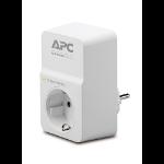 APC SurgeArrest 1AC outlet(s) 230V White surge protectorZZZZZ], PM1W-GR