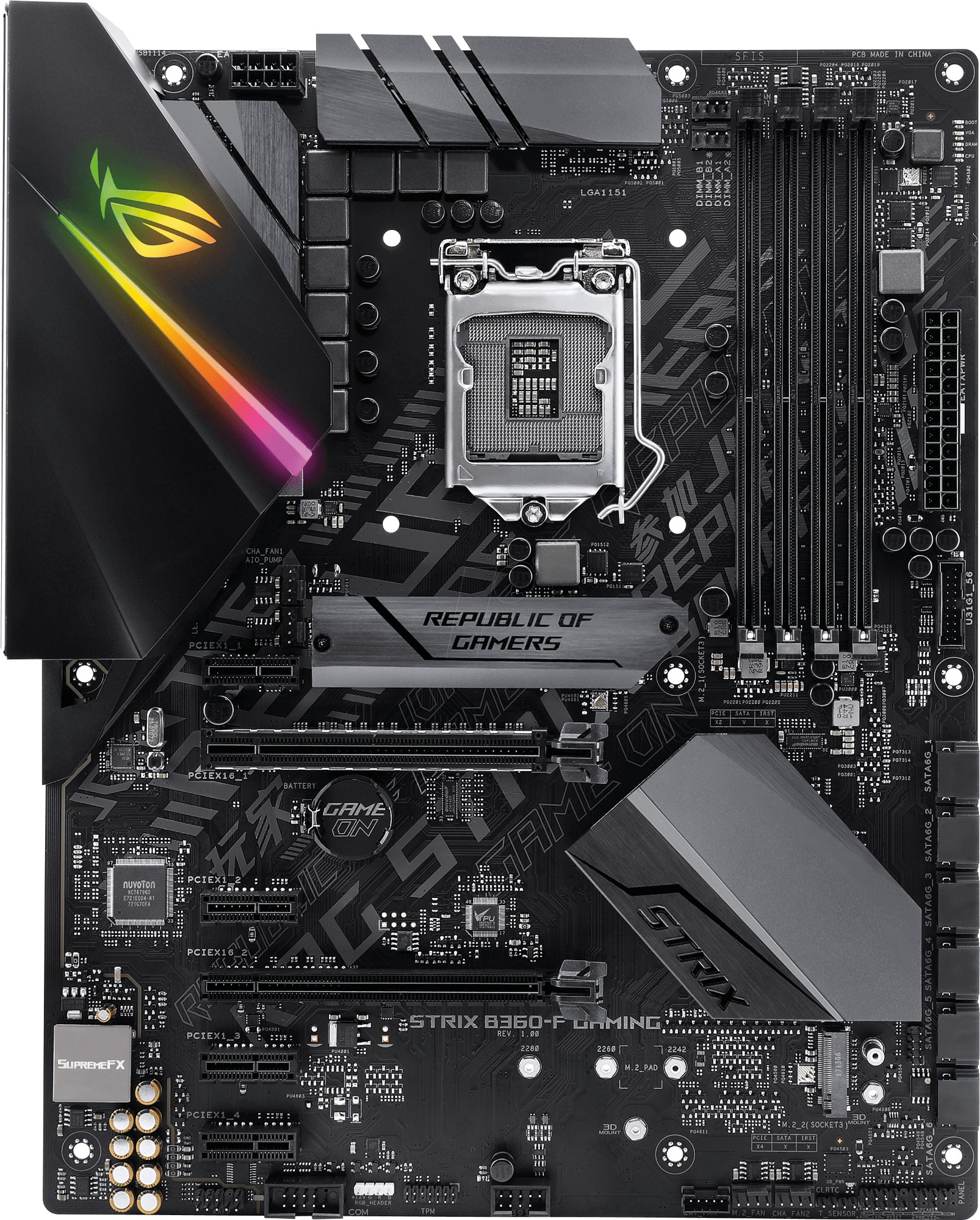 ASUS ROG STRIX B360-F GAMING motherboard LGA 1151 (Socket H4) ATX Intel® B360