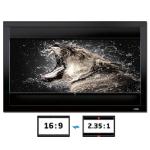 Celexon DELUXX Cinema Frame - Verticle-Adjustable - 235cm x 132cm - 16:9/21:9 Aspect Ratio (Grey Fabric)