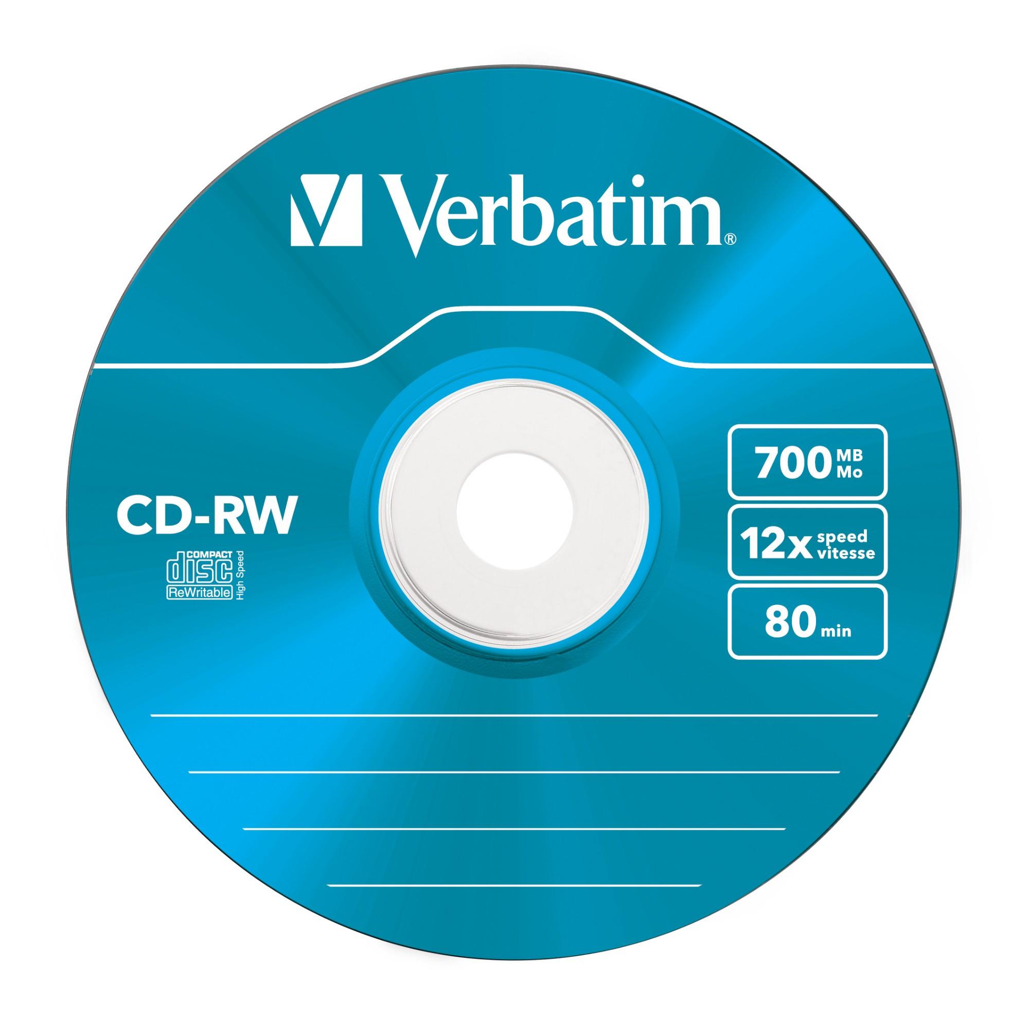 Verbatim CD-RW Colour 12x 700 MB 5 pc(s)