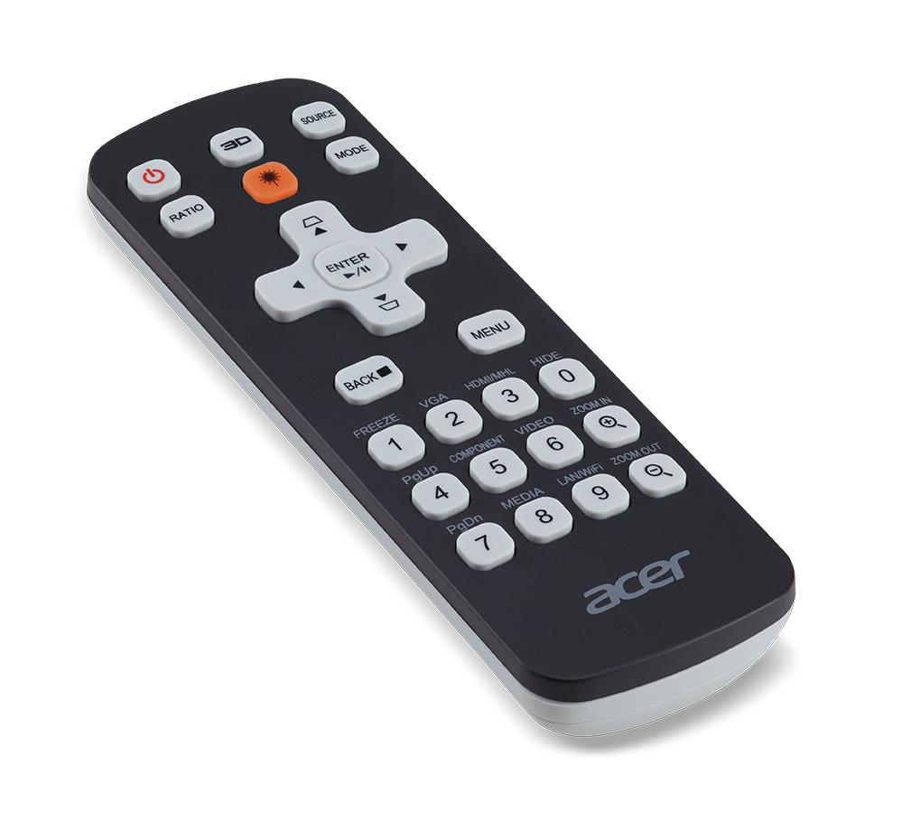 Acer MC.JMV11.00G remote control IR Wireless Universal Press buttons