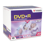 Verbatim 16x DVD+R Media 4.7 GB 20 pcs