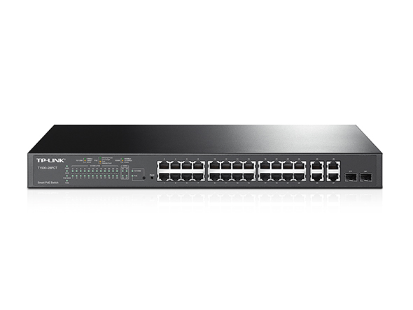 TP-LINK T1500-28PCT Managed network switch L2 Fast Ethernet (10/100) Power over Ethernet (PoE) 1U Black network switch