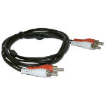 Microconnect 2xRCA/2xRCA 1.5m audio cable Black, Red, White