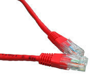 Cables Direct Cat5e UTP 3m networking cable Red