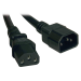 Tripp Lite Standard Computer Power Extension Cord Lead Cable, 10A, 18AWG (IEC-320-C14 to IEC-320-C13), 0.91 m (3-ft.)