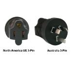 InLine North America US 3-pin to Australia Power Adapter Plug