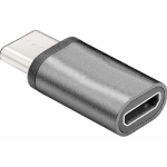 Microconnect USB3.1CMBF cable gender changer USB 3.1 Type C Micro-USB 2.0 Type B Grey