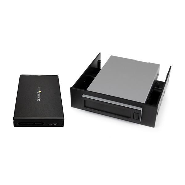 "StarTech.com S251BU31REM panel bahía disco duro 8,89 cm (3.5"") Storage drive tray Negro"