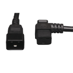 Tripp Lite P036-002-19RA 0.6m C19 coupler C20 coupler Black power cable