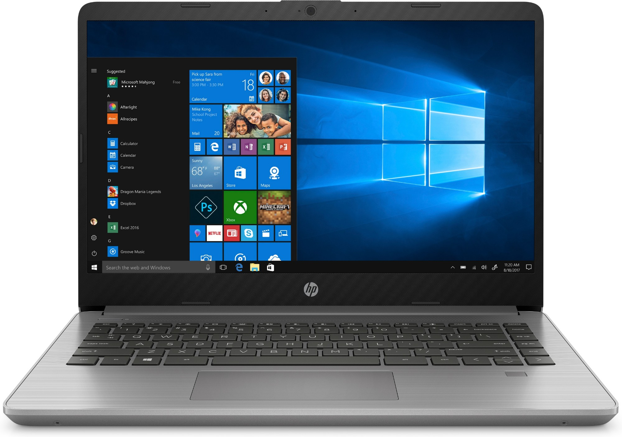 "HP 340S G7 Portátil Plata 35,6 cm (14"") 1920 x 1080 Pixeles Intel® Core™ i3 de 10ma Generación 8 GB DDR4-SDRAM 256 GB SSD Wi-Fi 6 (802.11ax) Windows 10 Home"