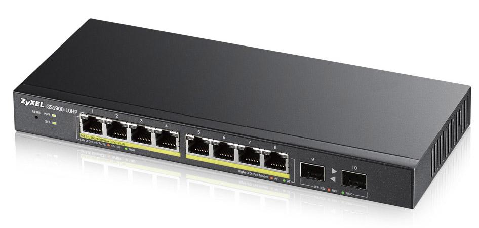 Zyxel GS1900-10HP Managed L2 Gigabit Ethernet (10/100/1000) Black Power over Ethernet (PoE)